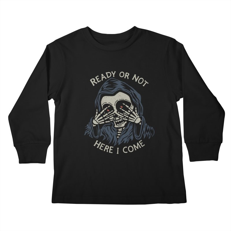 Grim Seeker Kids Longsleeve T-Shirt by Ibyes