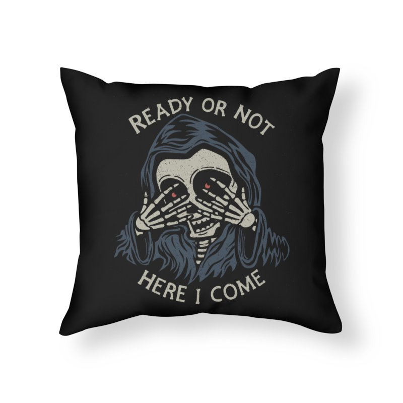 Grim Seeker Home Throw Pillow by Ibyes