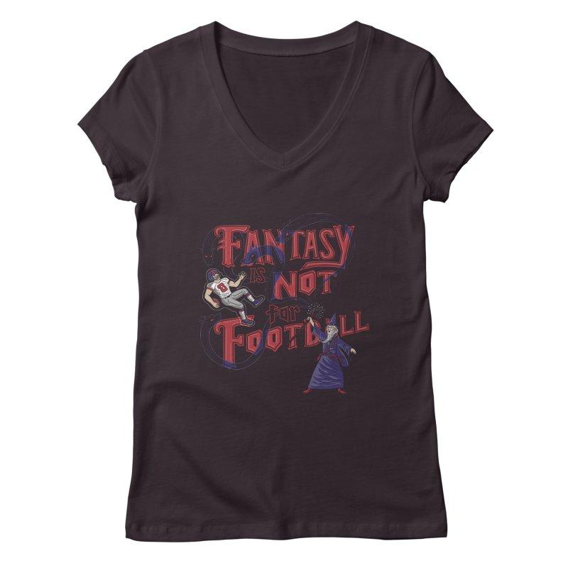 Fantasy Not Football Women's Regular V-Neck by Ibyes