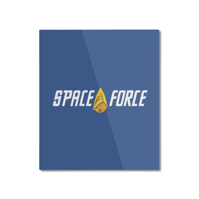 Space Force Home Mounted Aluminum Print by Ibyes