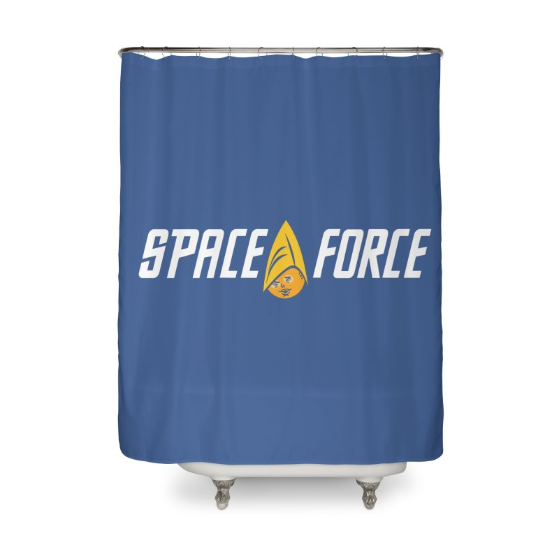 Space Force Home Shower Curtain by Ibyes