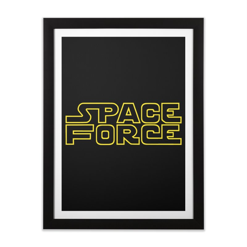 Space Force Home Framed Fine Art Print by Ibyes