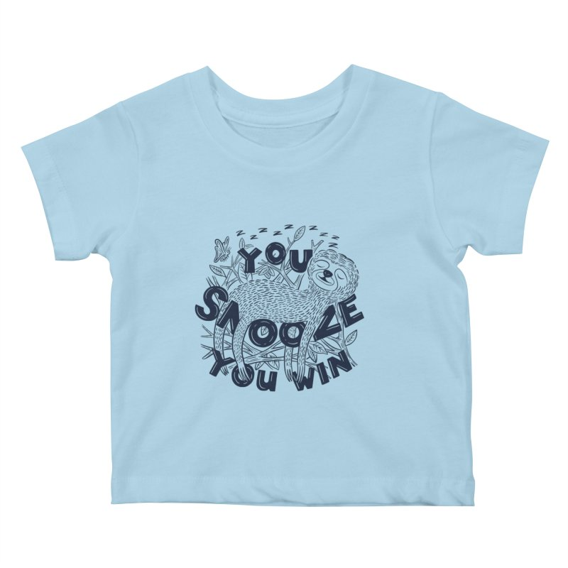 Snoozer Kids Baby T-Shirt by Ibyes