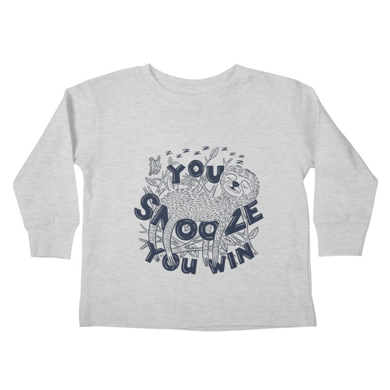 Snoozer Kids Toddler Longsleeve T-Shirt by Ibyes