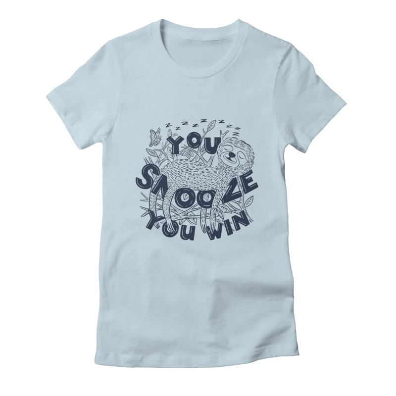 Snoozer Women's T-Shirt by Ibyes