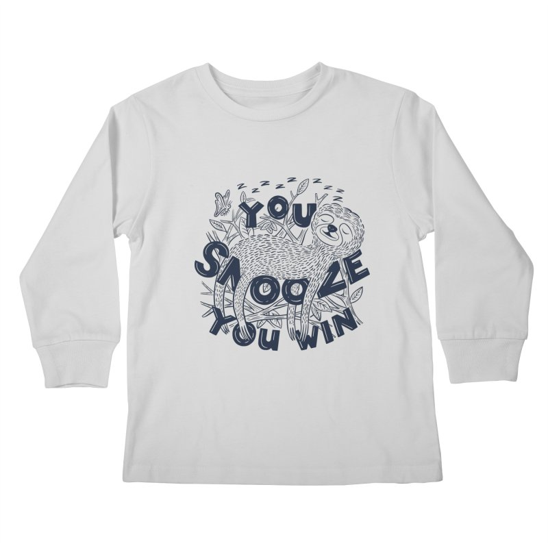Snoozer Kids Longsleeve T-Shirt by Ibyes