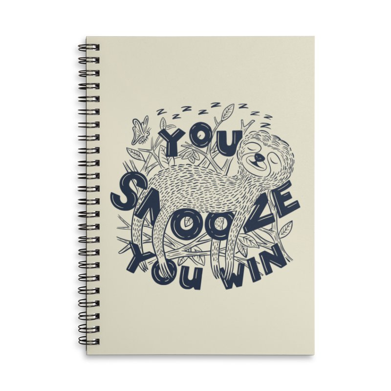 Snoozer Accessories Lined Spiral Notebook by Ibyes