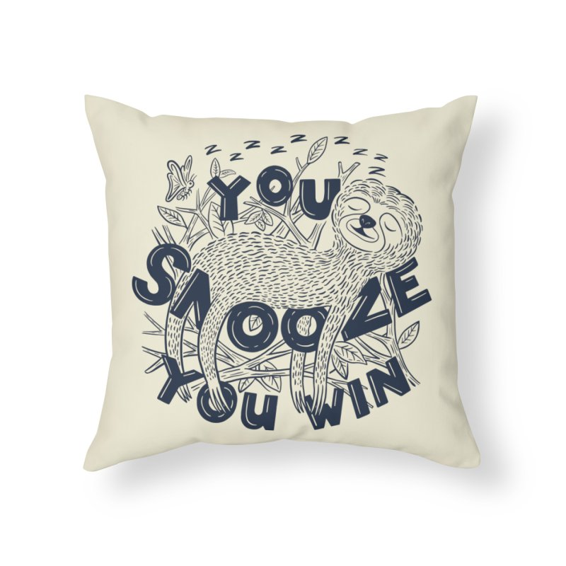 Snoozer Home Throw Pillow by Ibyes