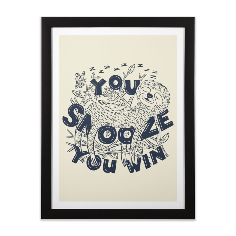 Snoozer Home Framed Fine Art Print by Ibyes