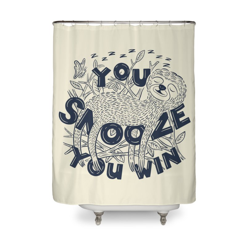 Snoozer Home Shower Curtain by Ibyes