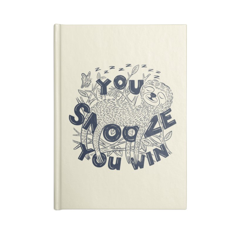 Snoozer Accessories Blank Journal Notebook by Ibyes