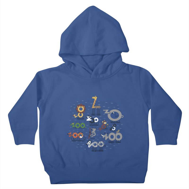 Zoo Animals Kids Toddler Pullover Hoody by Ibyes