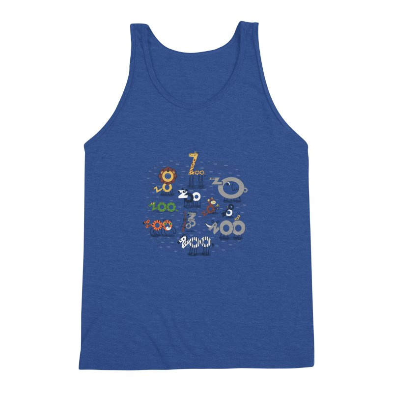 Zoo Animals Men's Triblend Tank by Ibyes