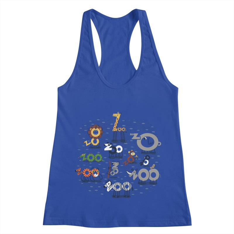 Zoo Animals Women's Racerback Tank by Ibyes