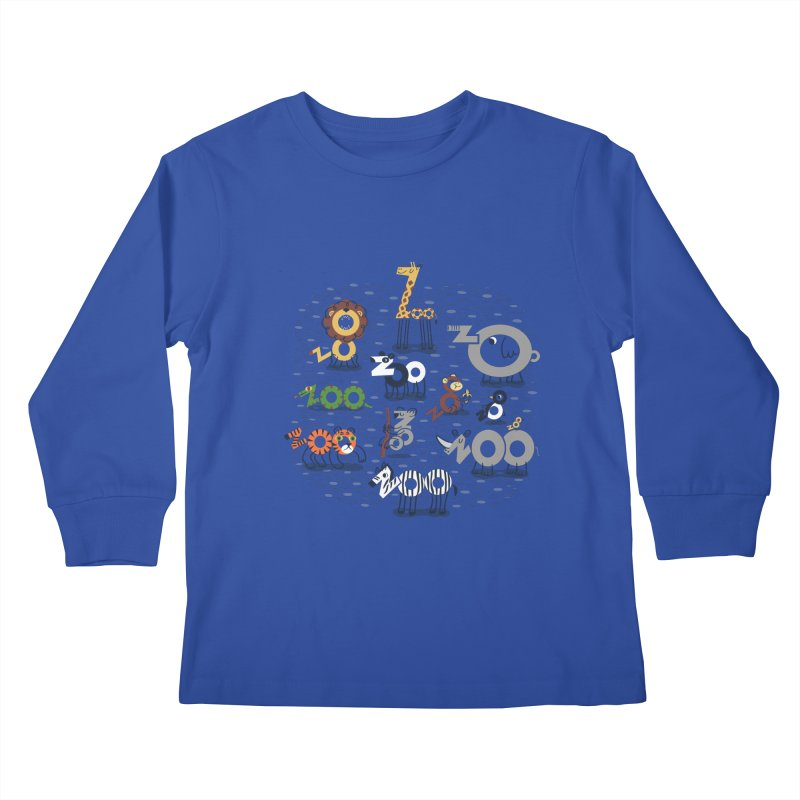 Zoo Animals Kids Longsleeve T-Shirt by Ibyes