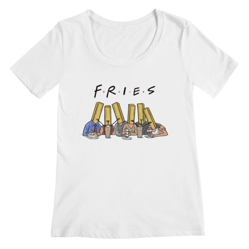 Fries Women's Regular Scoop Neck by Ibyes