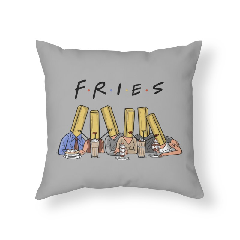 Fries Home Throw Pillow by Ibyes