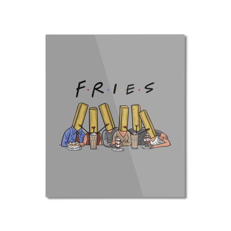 Fries Home Mounted Aluminum Print by Ibyes