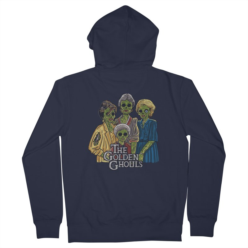 The Golden Ghouls Men's French Terry Zip-Up Hoody by Ibyes