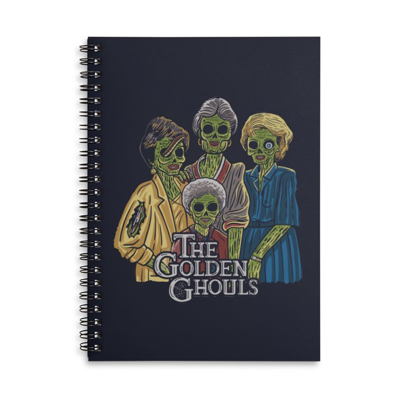 The Golden Ghouls Accessories Lined Spiral Notebook by Ibyes