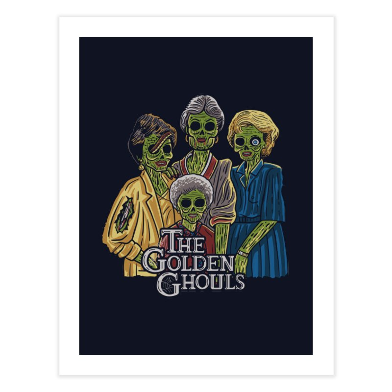 The Golden Ghouls Home Fine Art Print by Ibyes