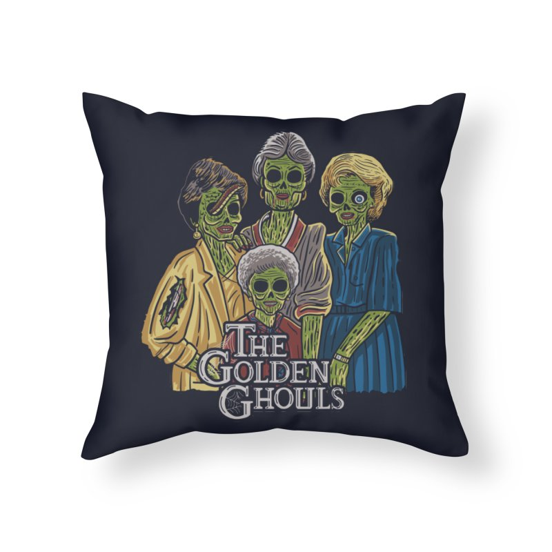 The Golden Ghouls Home Throw Pillow by Ibyes