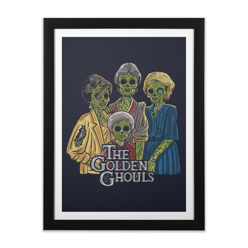 The Golden Ghouls Home Framed Fine Art Print by Ibyes