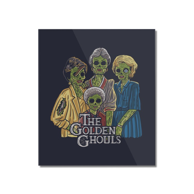 The Golden Ghouls Home Mounted Acrylic Print by Ibyes