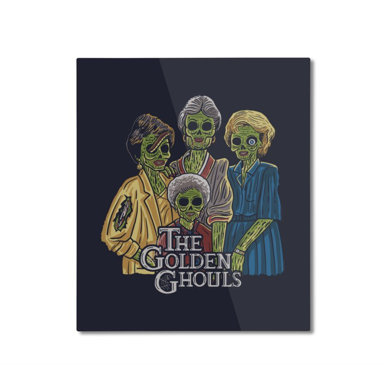 The Golden Ghouls Home Mounted Aluminum Print by Ibyes