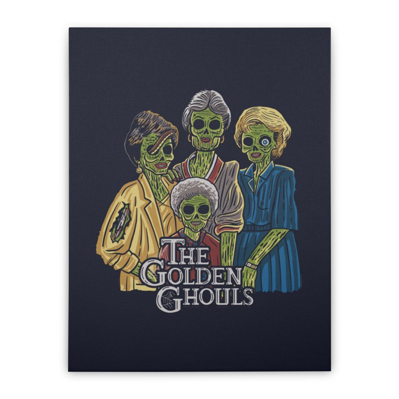 The Golden Ghouls Home Stretched Canvas by Ibyes