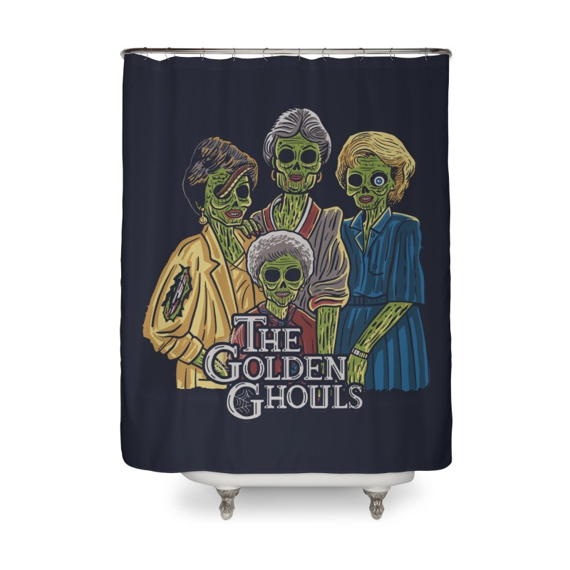 The Golden Ghouls Home Shower Curtain by Ibyes