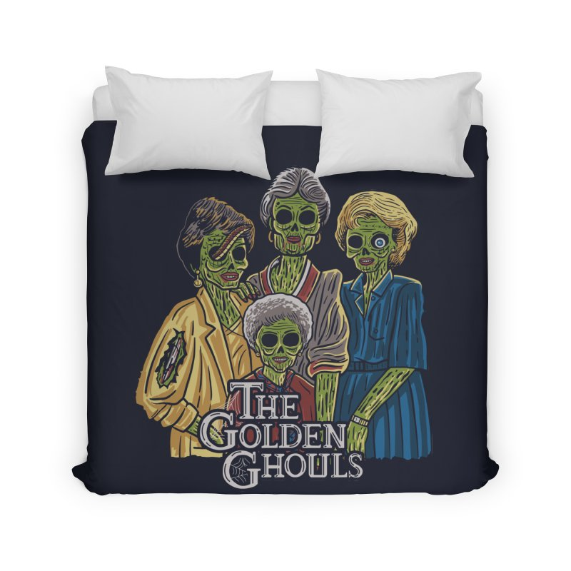 The Golden Ghouls Home Duvet by Ibyes