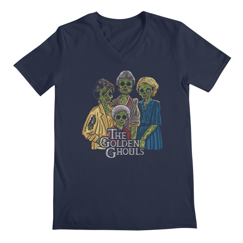 The Golden Ghouls Men's Regular V-Neck by Ibyes