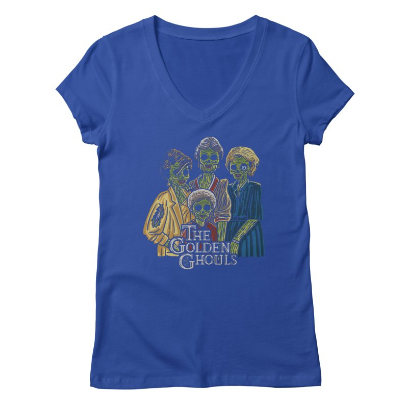 The Golden Ghouls Women's Regular V-Neck by Ibyes