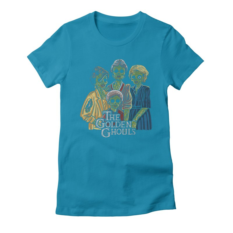 The Golden Ghouls Women's Fitted T-Shirt by Ibyes