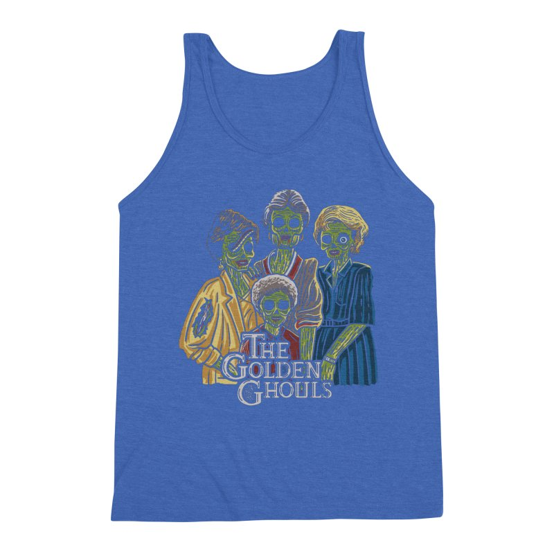The Golden Ghouls Men's Triblend Tank by Ibyes