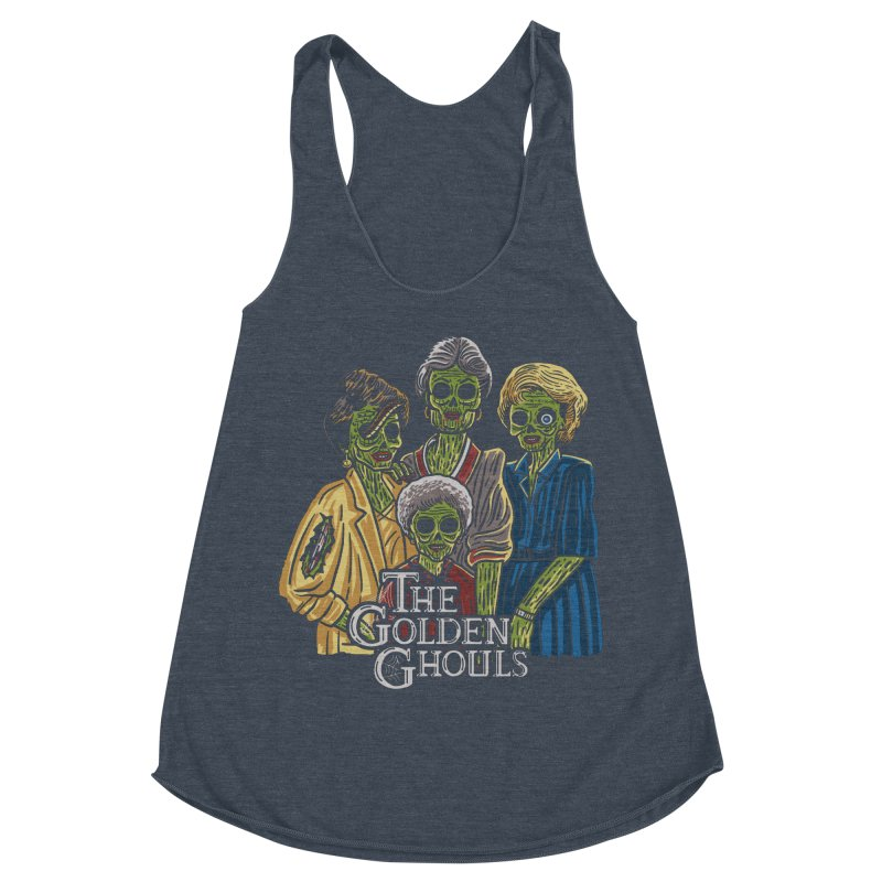 The Golden Ghouls Women's Racerback Triblend Tank by Ibyes