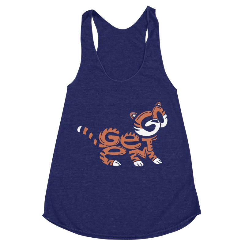 Go Get Em! Women's Racerback Triblend Tank by Ibyes