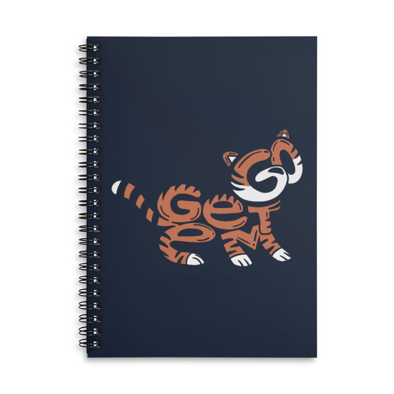 Go Get Em! Accessories Lined Spiral Notebook by Ibyes