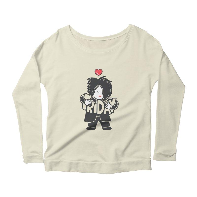 Weekday Cure Women's Scoop Neck Longsleeve T-Shirt by Ibyes