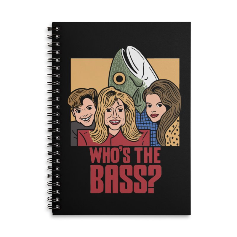 Who's The Bass? Accessories Lined Spiral Notebook by Ibyes