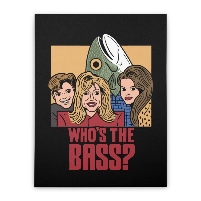Who's The Bass? Home Stretched Canvas by Ibyes