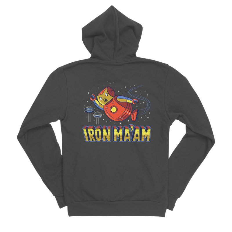 Iron Ma'am Women's Sponge Fleece Zip-Up Hoody by Ibyes