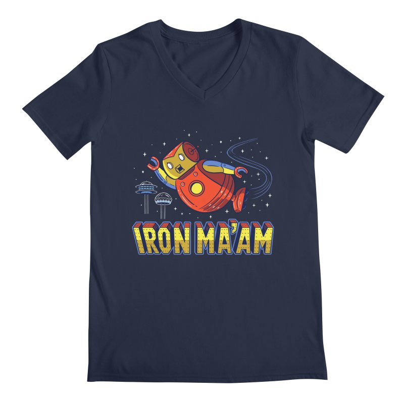 Iron Ma'am Men's Regular V-Neck by Ibyes