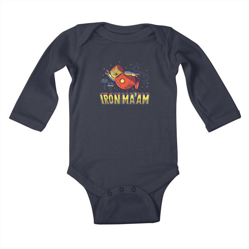 Iron Ma'am Kids Baby Longsleeve Bodysuit by Ibyes
