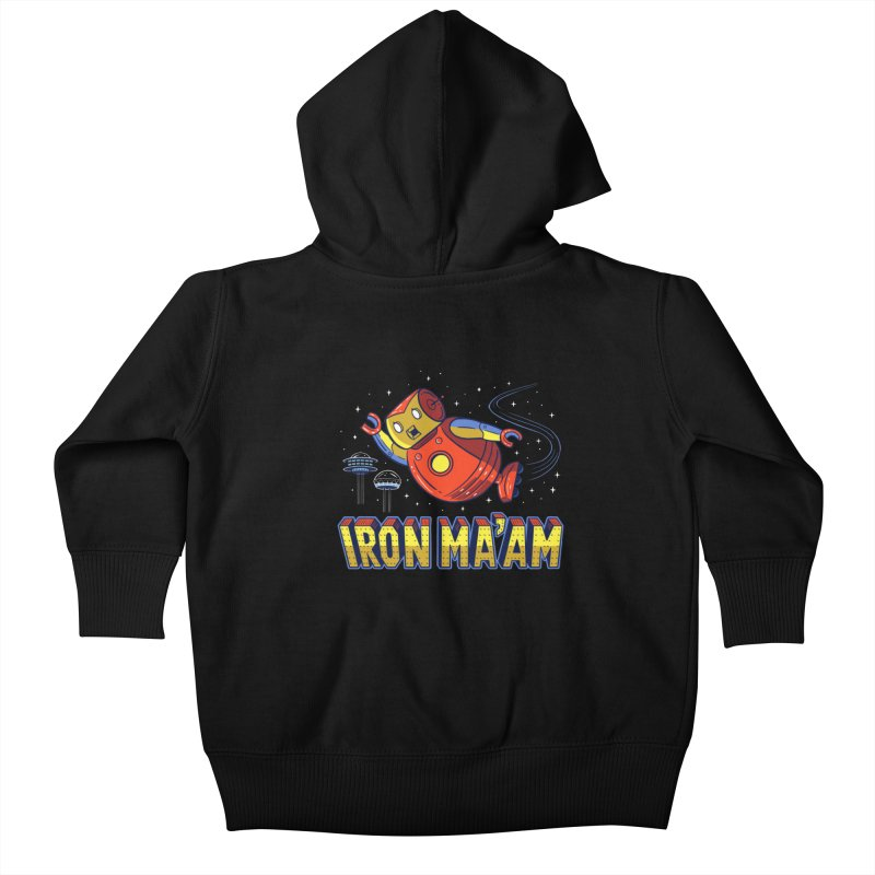 Iron Ma'am Kids Baby Zip-Up Hoody by Ibyes