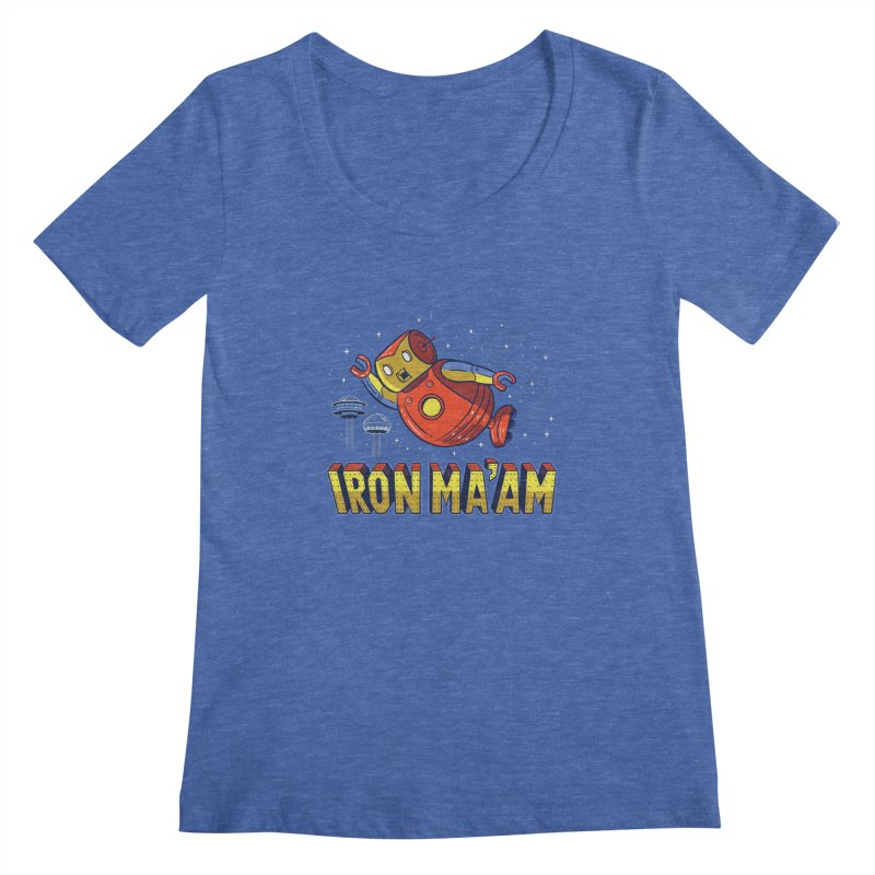 Iron Ma'am Women's Regular Scoop Neck by Ibyes