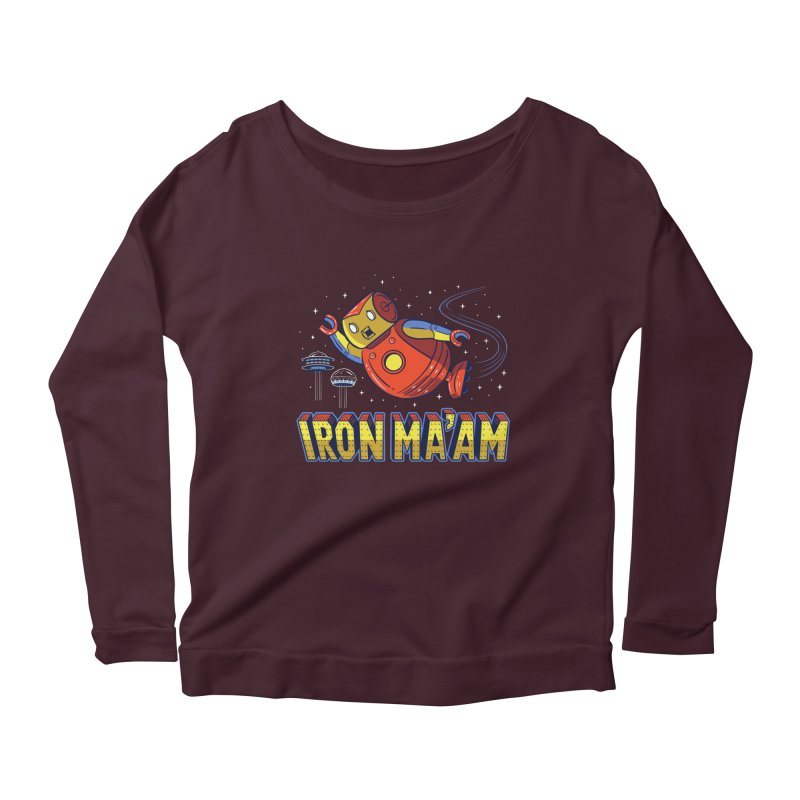 Iron Ma'am Women's Scoop Neck Longsleeve T-Shirt by Ibyes
