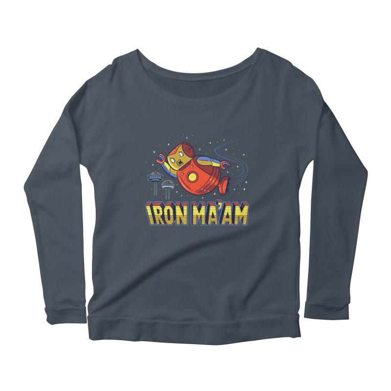 Iron Ma'am Women's Scoop Neck Longsleeve T-Shirt by Ibyes