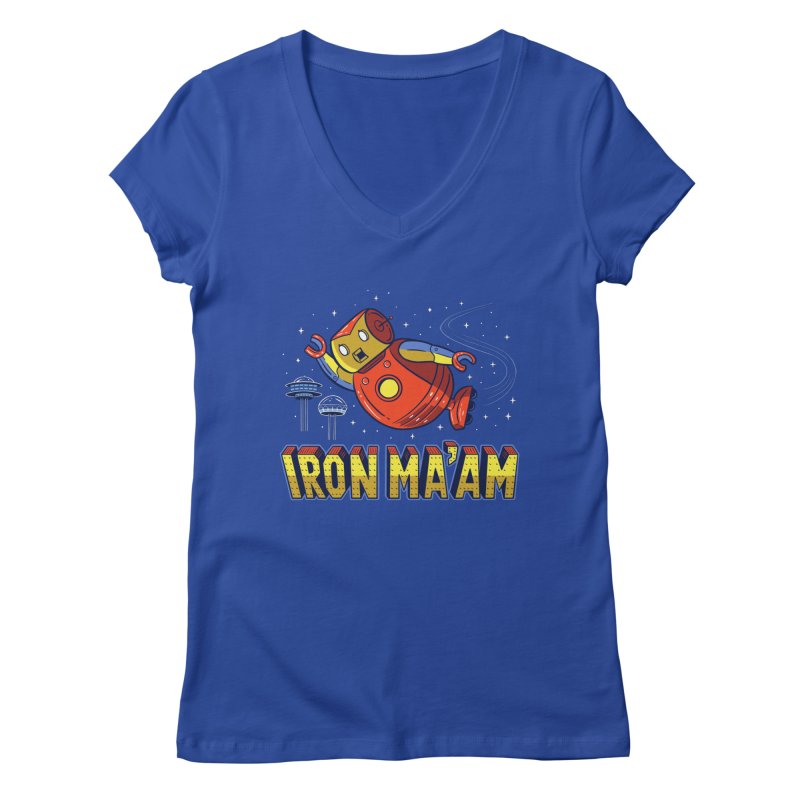 Iron Ma'am Women's Regular V-Neck by Ibyes